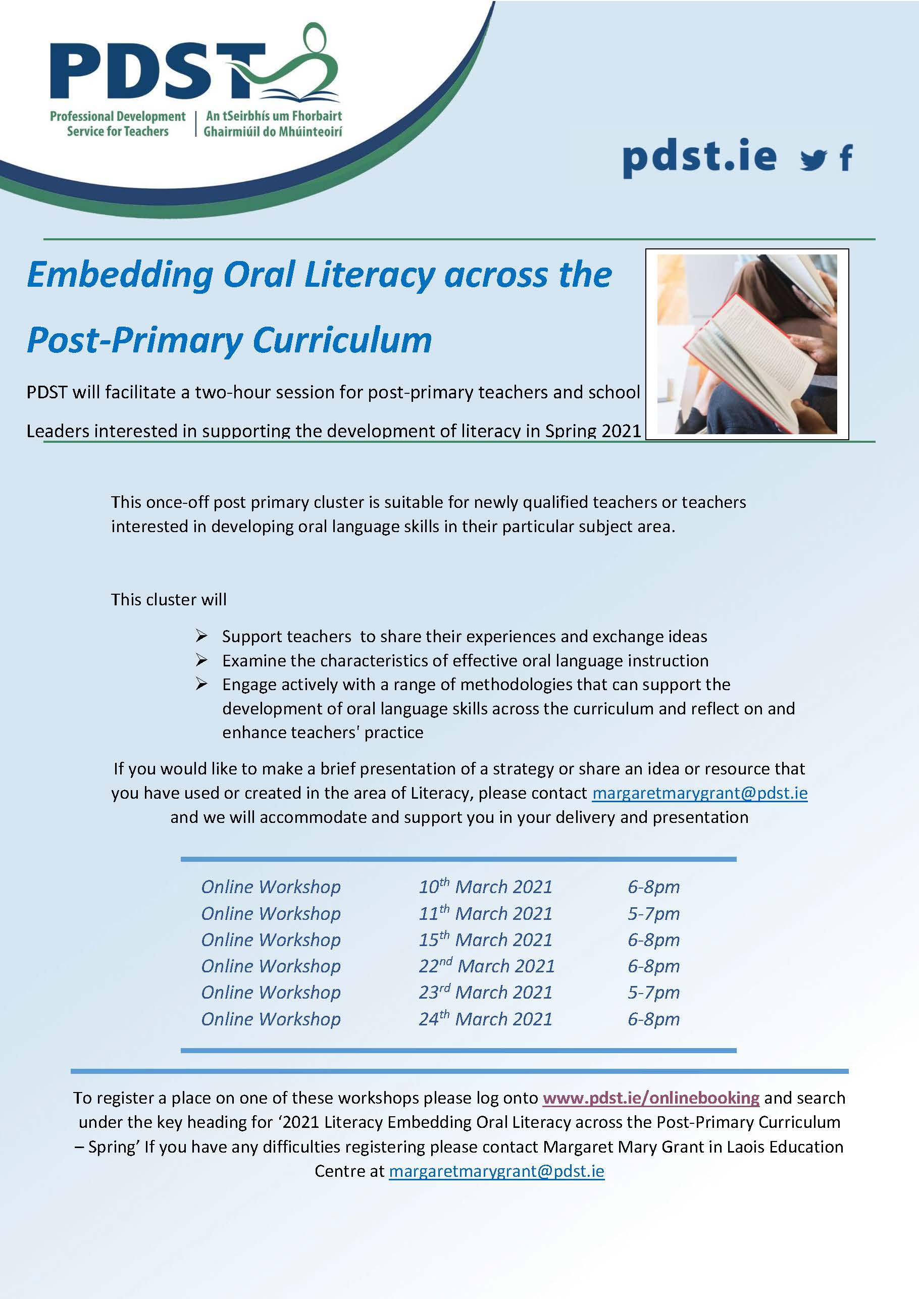 Embedding Oral Literacy across the PP Curriculum Spring 2021 MMG